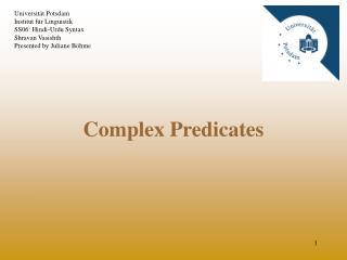 Complex Predicates