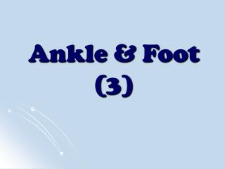Ankle & Foot (3)