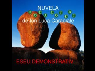 NUVELA de Ion Luca Caragiale