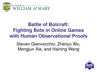 Battle of Botcraft: Fighting Bots in Online Games with Human Observational Proofs