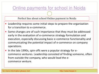 View about online payment for school in Noida