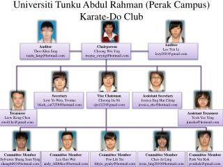 Universiti Tunku Abdul Rahman (Perak Campus) Karate-Do Club