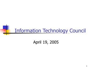 Information Technology Council