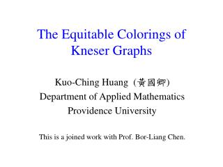 The Equitable Colorings of Kneser Graphs