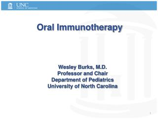 Oral Immunotherapy