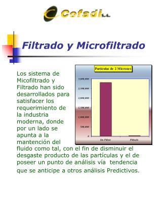Filtrado y Microfiltrado