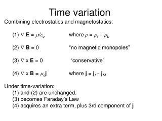 Time variation