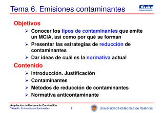 Tema 6. Emisiones contaminantes