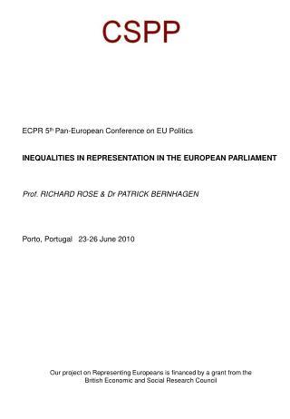 ECPR 5 th  Pan-European Conference on EU Politics