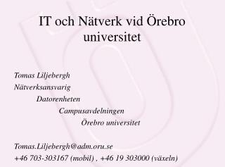 IT och Nätverk vid Örebro universitet