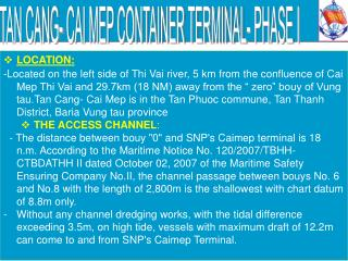 TAN CANG- CAI MEP CONTAINER TERMINAL- PHASE I