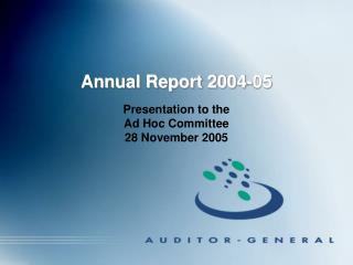Annual Report 2004-05