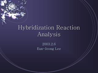 Hybridization Reaction Analysis