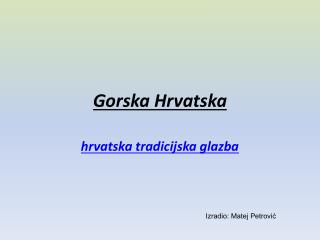 Gorska Hrvatska