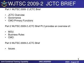 WJTSC 2009-2  JCTC BRIEF
