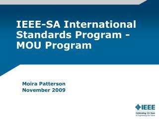 IEEE-SA International Standards Program - MOU Program