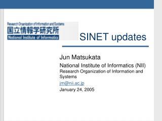 SINET updates