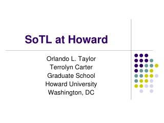 SoTL at Howard