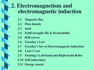 2.  Electromagnetism and