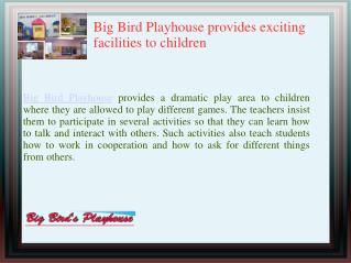 Big Bird Playhouse a Reputed play schools in Staten Island