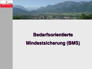 Bedarfsorientierte  Mindestsicherung (BMS)