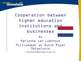 Cooperation between higher education institutions and businesses