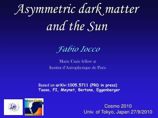 Asymmetric dark matter  and the Sun