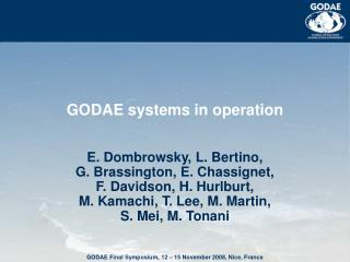 GODAE systems in operation
