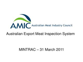 Australian Export Meat Inspection System