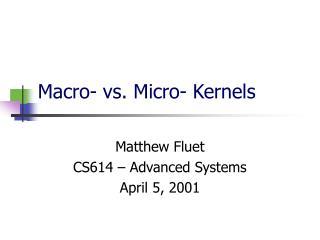 Macro- vs. Micro- Kernels