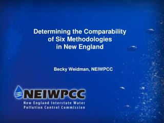 Determining the Comparability  of Six Methodologies  in New England