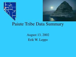 Paiute Tribe Data Summary