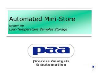 Automated Mini-Store