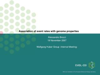 Association of event rates with genome properties
