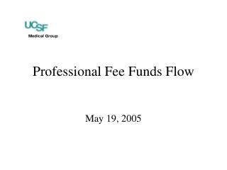 Professional Fee Funds Flow