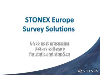 STONEX Europe Survey  Solutions