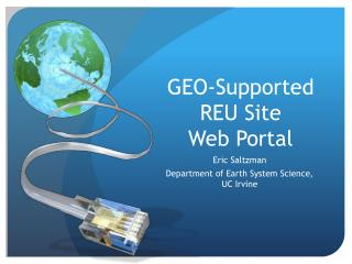 GEO-Supported REU Site  Web Portal