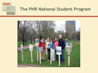 The PHR National Student Program