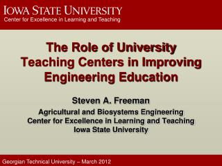 The Role of University Teaching Centers in Improving Engineering Education