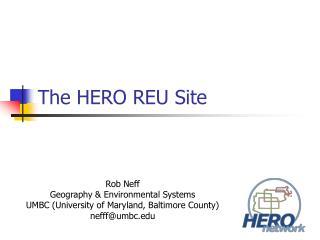 The HERO REU Site