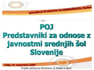 POJ Predstavniki za odnose z javnostmi srednjih šol Slovenije