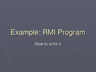 Example: RMI Program