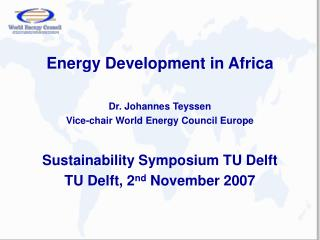 Energy Development in Africa