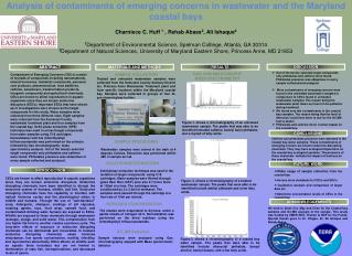 Analysis of contaminants of emerging concerns in wastewater and the Maryland coastal bays