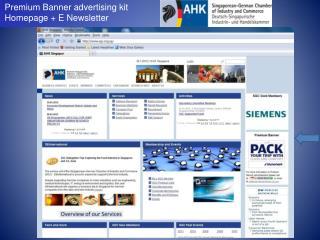 Premium Banner advertising kit Homepage + E Newsletter