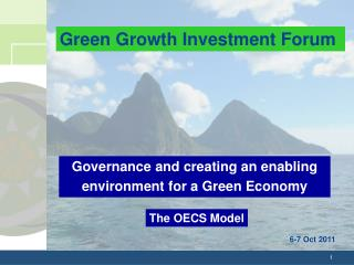 Governance and creating an enabling  environment for a Green Economy