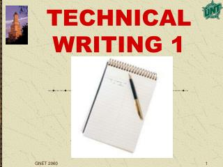 TECHNICAL WRITING 1