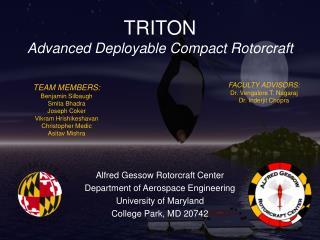 TRITON Advanced Deployable Compact Rotorcraft