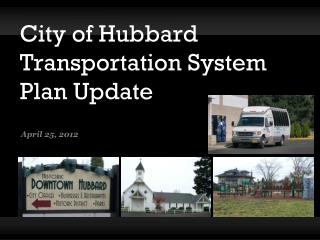 City of Hubbard Transportation System Plan Update