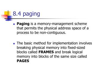8.4 paging